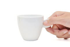 White cup. This is a White cup in isolated shot Royalty Free Stock Image