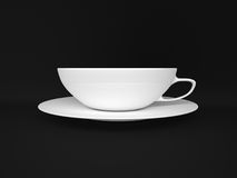 White cup  on black background. Stock Photography