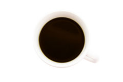 White cup of black coffee Stock Images