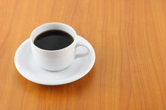 White cup of black coffee Stock Image