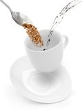 White cup of black coffee Royalty Free Stock Image