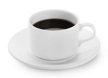 White cup of black coffee Royalty Free Stock Images