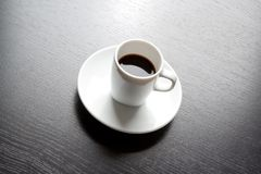 White cup with black coffee Stock Photo