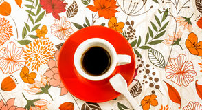 A white cup of black espresso coffee Royalty Free Stock Image