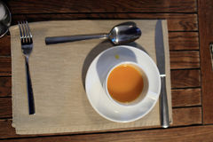 White cup of buckthorn tea Royalty Free Stock Photo