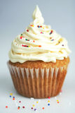 White cup cake Royalty Free Stock Photo