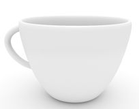 White cup of coffe royalty free stock image