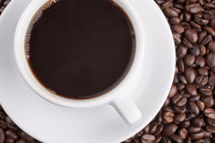 White cup with coffee Royalty Free Stock Photography