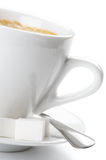 White cup of coffee Royalty Free Stock Images