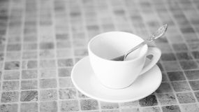 White cup for coffee Royalty Free Stock Images