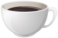 A white cup with coffee Stock Images