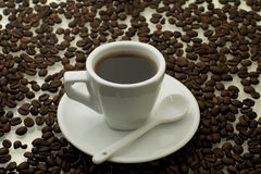 White cup of coffee Stock Photos