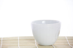 White cup with coffee Stock Image