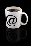 White cup of coffee (clipping path) Royalty Free Stock Images