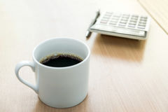 A white cup of coffee stock images