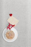 White cup coffee hot drink heart symbol love blank card copy-space Stock Photos