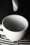 White cup on at coffee machine Stock Photography