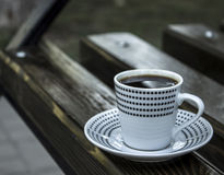 White cup of coffee Royalty Free Stock Photo
