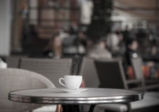 White cup of coffee Royalty Free Stock Image