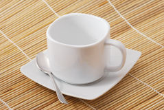 White cup for coffee or tea Stock Images