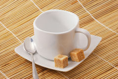 White cup for coffee or tea Royalty Free Stock Images