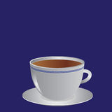 White cup with coffee or tea,  illustration Stock Image