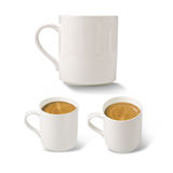 White cofee cups Royalty Free Stock Image