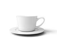 White cup for coffee  on white background Royalty Free Stock Images