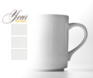 WHITE CUP with copy space Royalty Free Stock Photo