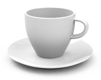 The white cup Stock Image