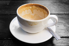 White cup of empty coffee latte Stock Images