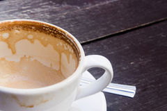 White cup of empty hot coffee latte Royalty Free Stock Images