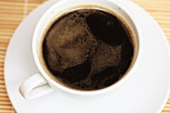 White cup of espresso coffee Stock Photography