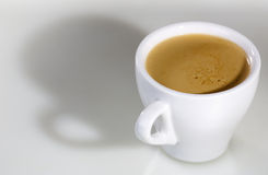 White cup with espresso coffee Royalty Free Stock Photo