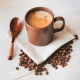 White cup of espresso coffee Stock Image