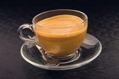 White cup of espresso coffee Stock Photo