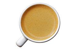 White cup of espresso on white Stock Photo