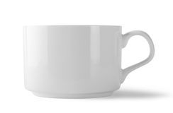 White cup with handle Stock Photos