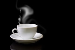 White cup of hot drink Royalty Free Stock Images