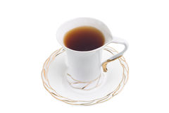 White cup of hot tea Royalty Free Stock Photo