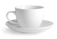 White cup isolated Royalty Free Stock Photos