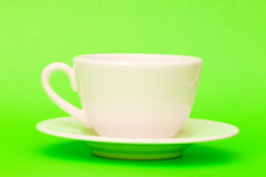White cup isolated Royalty Free Stock Photo