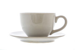 White cup isolated Royalty Free Stock Photography