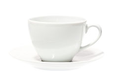 White cup isolated on white. Stock Image