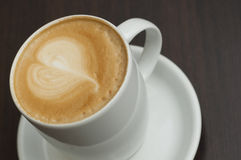White cup of latte Royalty Free Stock Images
