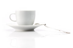 White cup over white background. White cup close up shoot over white background stock images