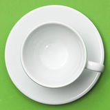 White cup and saucer Royalty Free Stock Images