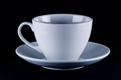 White cup on saucer Stock Photography