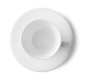 White cup and saucer Royalty Free Stock Image