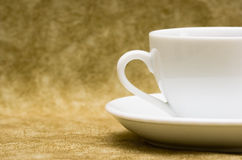 White cup with saucer stock image